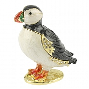 Jewelled Puffin Trinket Box