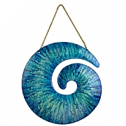 Glass Spiral Wall Décor, blue