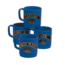 Unbreakable, Stackable Mugs that Show Rank