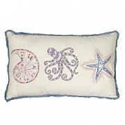 Embroidered Octopus Cushion