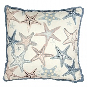 Embroidered Starfish Cushion