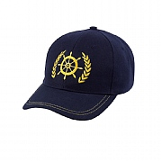 Yachtsman Cap with Ship's Wheel & Leaf