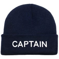Embroidered Knitted Beanie Hats, Captain