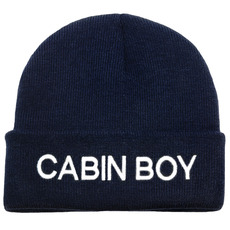 Embroidered Knitted Beanie Hats, Cabin Boy