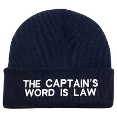 Embroidered Knitted Beanie Hats, Captain Word is Law