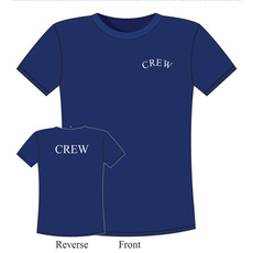 Machine Washable 100% Cotton Navy Crew T-Shirts for all On-board