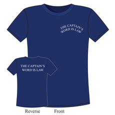 100% Cotton Crew 'The Captain's Word is Law' T-Shirt