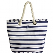 Breton Stripe Canvas Beach Bag