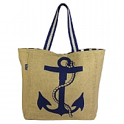 Lined Hessian Beach Bag