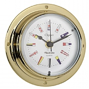 Brass 'Clipper' Code Flag Clock