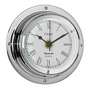 Chrome 'Clipper' Clock