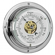 Chrome 'Clipper' Barometer