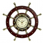 Brass Ship's Wheel Clock