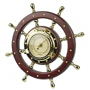 Brass Ship's Wheel Barometer
