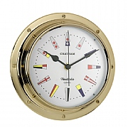 Brass 'Chatham' Code Flag Clock