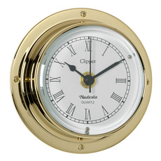Clipper Tarnish-free Clock with QuickFix System