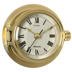 Riviera Range of Brass Clock