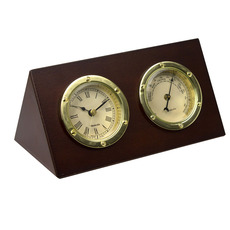 Desktop Clock and Barometer Set