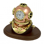 Diving Helmet Clock on Plinth