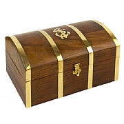 10in. Treasure Chest with Anchor Motif