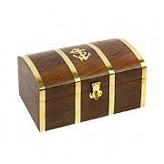 7in. Treasure Chest with Anchor Motif