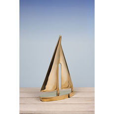 Ornamental Yacht Sculptures in Solid Brass