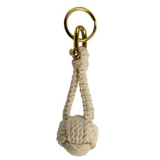 Monkey Fist Knot Keyring