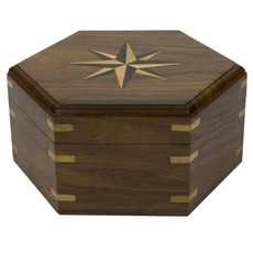 Hexagonal Wooden Boxes Available in Three Sizes