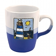 Two Tone Lighthouse Mugs