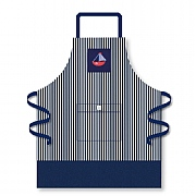 Navy Stripe Apron with Sailboat