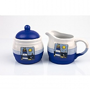 Two Tone Lighthouse Sugar & Creamer Set