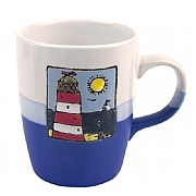 Two Tone Mugs with Nautical-style Detailing