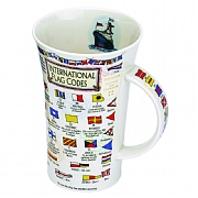 Fine English Stoneware Code Flag Mugs
