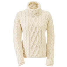 Roll-Neck Merino Wool Sweater from the West Coast of Ireland