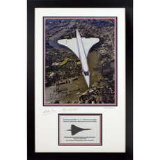 Limited Edition Anniversary Photo of Concorde's Last Flight with Metal Model