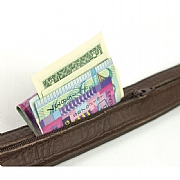 Rogue Leather Belt - with Secret Money Pocket