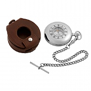 Half Hunter Moondial Pocket Watch