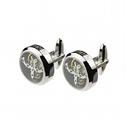 Chrome or Gold Plated Tourbillion Cufflinks