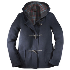 Ladies' Traditional Short Duffel Coat with Horn Toggles