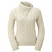 Merino Wool Slash-neck Sweater Crafted in England