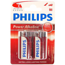 Philips Batteries - 2xC