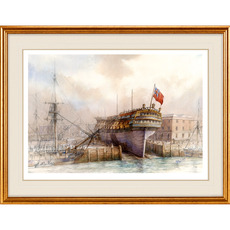 HMS Warrior Print by David Bell - A Magnificent Watercolour Print