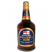 Pusser's Original Admiralty Blue Label Rum at 40%abv, 70cl