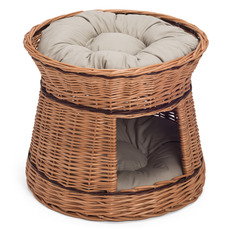 Wicker Two-Tier Cat Bed