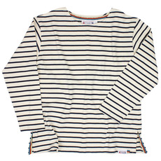 Unisex Breton T-Shirts with Three-quarter-length Sleeves