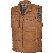 Quilted Leather Gilet