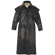 Men's Leather Riding Coat