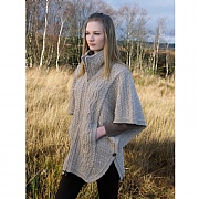100% Merino Wool Full- Zipped Poncho
