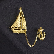 Vintage Sailboat Brooch