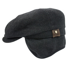 Cashmere and Wool Hatteras with Earflaps